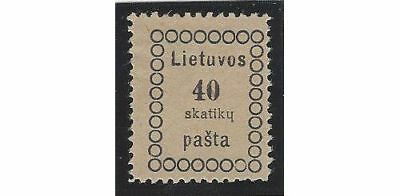 LITHUANIA. 1918 (31 Dec). 2nd Vilnius Issue. Position #8. Perforated all around.
