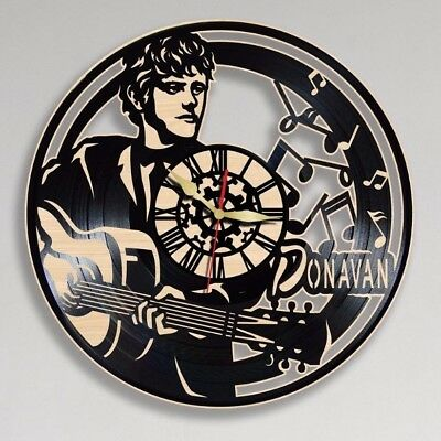Donovan Vinyl Clock Wooden Wall Clock Handmade Home Ofice Decor Gift