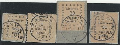 LITHUANIA. 1919 (28 Jan - 4 Feb). FIRST KAUNAS ISSUE. USED.