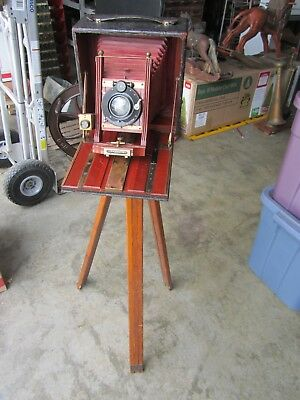 Antique Century Field Camera Model 46 Vintage w/ Orig Wood Tripod AS FOUND Old