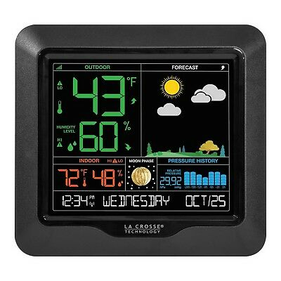 La Crosse Wireless Color Weather Station Temperature Humidity Forecast Moon