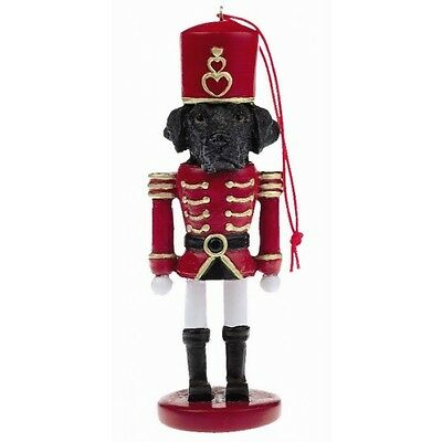 Labrador Retriever Black Dog Toy Soldier Nutcracker Christmas Ornament
