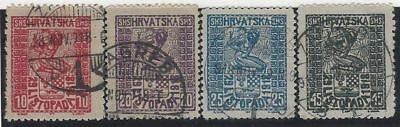 "SHS Croatia. 1918 (29 Nov). ""Freedom for Croatia"". Signed P. Zrinjscak. Used."