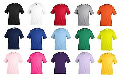 Toddler Basic Plain Tee Shirt For Boys And Girls Unisex Size -  2T, 3T, 4T, 5T