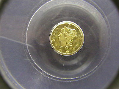 1870-G Round 25C BG-832, Liberty Head California Gold Coin PCGS MS61 Rarity 6