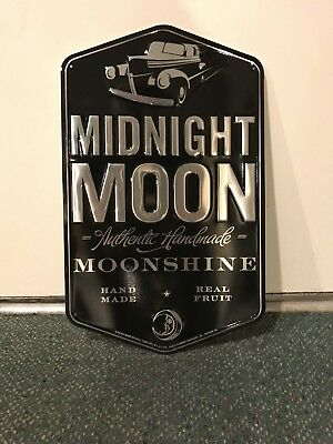 Midnight Moon Moonshine Metal tacker Sign--Junior Johnson NASCAR 1940 Ford