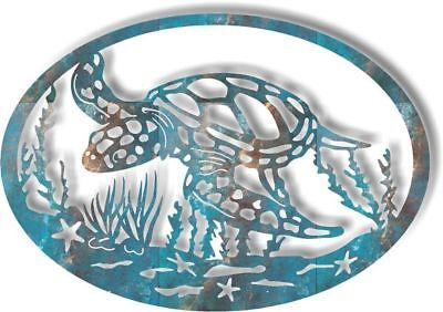 DXF CNC dxf for Plasma Router Vector Sea turtle Grass CS14 Man Cave Home