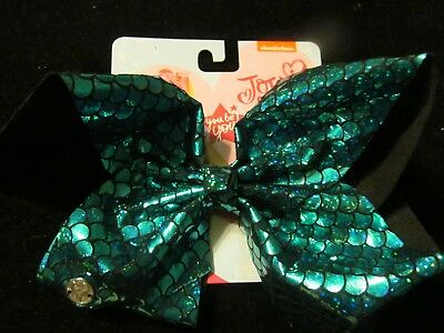 Jojo Siwa Signature Large blue/green MERMAID Bow -  GREAT FOR STOCKINGS NWT'S