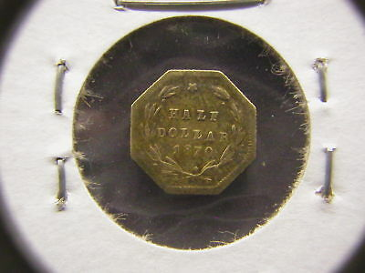 1870-G Octagonal 50C BG-921, Liberty Head California Gold Coin Rarity 5-