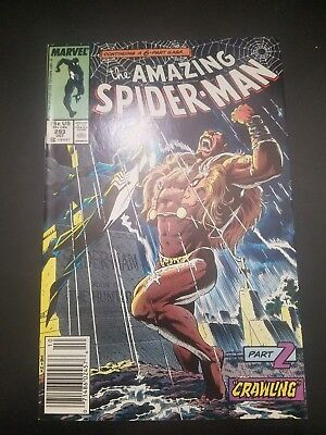The Amazing Spider-Man #293 (Oct 1987 Marvel) Part 2 DEATH OF KRAVEN! Newsstand!
