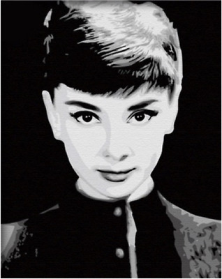 Paint by Numbers Kit 40x50cm with FRAME - Audrey Hepburn