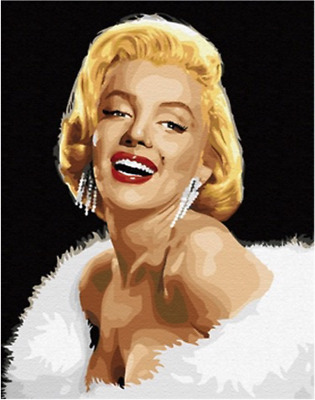 Paint by Numbers Kit 40x50cm with FRAME - Gorgeous Marilyn