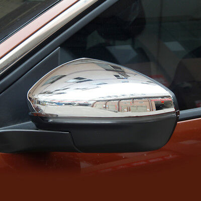 Chrome Side Mirror Cover For Peugeot 3008 5008 2017 2018 Rearview Overlay