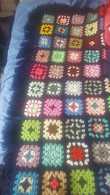 Blanket Granny Style  Hand Crochet To Fit Single Bed
