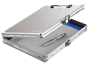 New Locking Storage Clipboard Letter Size Sheets Key Lock Briefcase Safe Silver