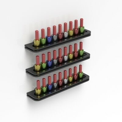 Wall Mounted Black Acrylic Nail Polish Display Shelf Nail Varnish Bottle Holder