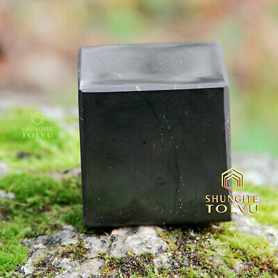 Protection EMF Cube from amazing rare stone Shungite Tolvu only real