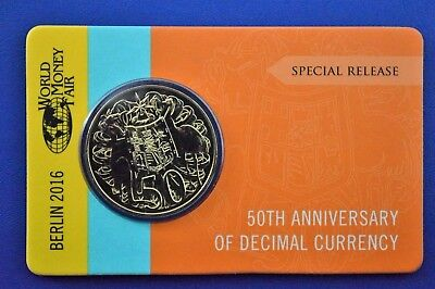 2016 Wmf 50 Cent Round Gold Uncirculated Limited Edition 5000