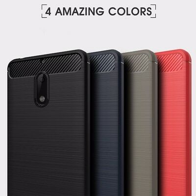 Carbon Fiber Hybrid Shockproof TPU Tough Heavy Duty Case Cover For Nokia 5