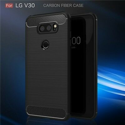 Carbon Fiber Hybrid Shockproof Heavy Duty Case Cover For LG V30