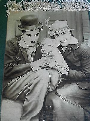 Persian Carpet - Charlie Chaplin - Unique Handmade - 34 Inches X 24.5 Inches