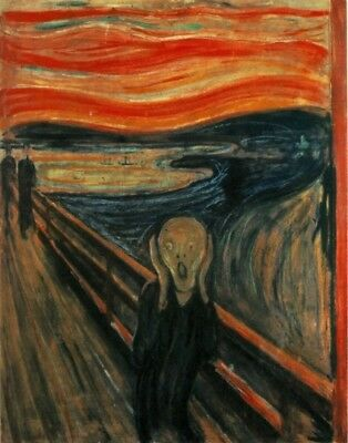 Paint by Numbers Kit 40x50cm with FRAME - The Scream by Edvard Munch