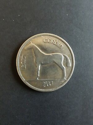 Old Irish Silver Half Crown Coin 1928 2s 6d Ireland Silver Horse