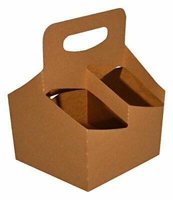 Southern Champion Tray 2797 Kraft Paperboard Drink Carrier with Handle, Hold 4 C