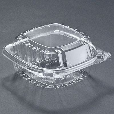 Small Clear Plastic Hinged Food Container 5x5 for Sandwich Salad Party Favor Cak