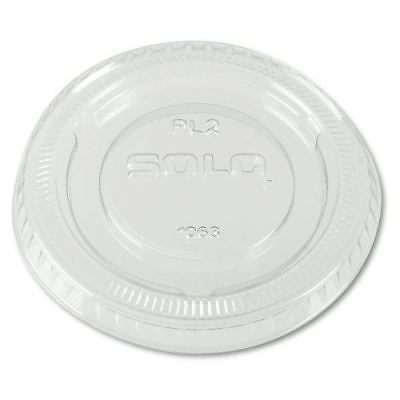 Solo PL200N Clear Portion Container Lid - Fits 1.5-2.5 oz (Case of 2500)