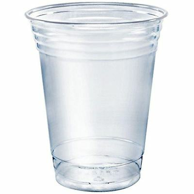 SOLO Cup Company Plastic Party Cold Cups, Clear, 12 oz, 2 Pack (50 Cups)
