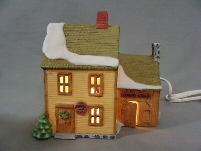 "1986 Porcelain Dept 56 ""Livery Stable"", New England Village Series"