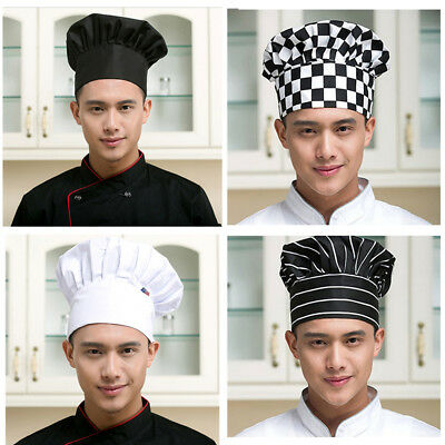 Unisex Kitchen Chef Hat Adjustable Elastic Baker Cap Cook Catering Restaurant