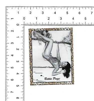 Bettie Page hanging sticker pin up