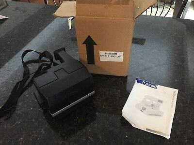 Polaroid Spirit 600  Camera, Tested and Working original box, strap and manual