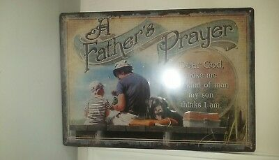 A father's prayer Tin Sign  12x17