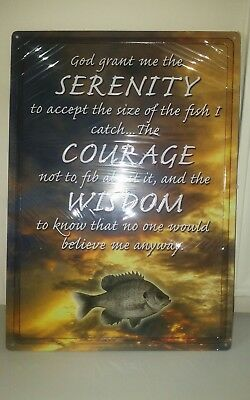 New serenity courage wisdom Tin Sign  12x17