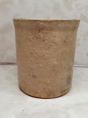 """Old Stoneware Crock 5"""" Tall Barn Find Not Marked"""