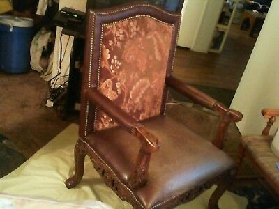 ANTIQUE ARMCHAIR great wood detail