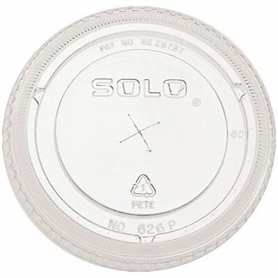 SOLO Cup Company Ultra Clear Flat Cold Cup Lids, Pet, 300 Piece