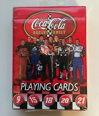 The Coca-Cola Racing Family Nascar Bicycle Playing Cards NEW IN PACKAGE COKE