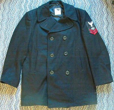 US Navy Petty Officer's pea coat-100% wool by VI-MIL size 42R  Vtg