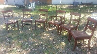 6 (Six) Rush Bottom Dining Chairs Needs TLC