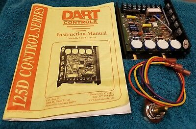 Dart DC Drive Board with potentiometer and instructions.  Grainger part # 2M510