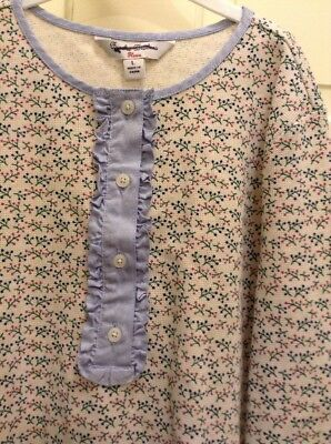 NWT Brooks Brothers Fleece Girls Floral L/Sleeve Blouse Shirt Cream Blue Size L