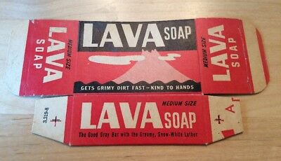 Vintage LAVA SOAP Box P&G Iconic Soapbox Futures A Volcano Image Made In U.S.A.