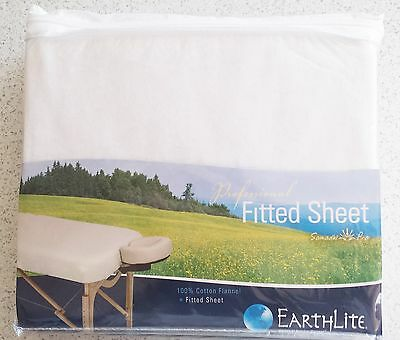 Massage Table Fitted Flannel Sheet - 100% Cotton - White