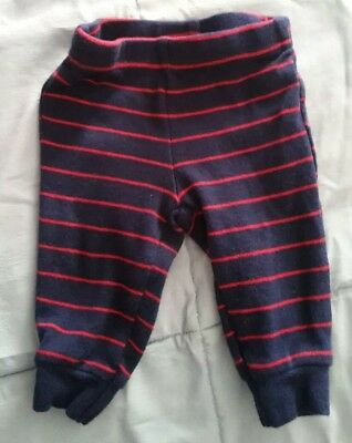 CHILD OF MINE by Carter's infant boy NB blue with red stipes pants