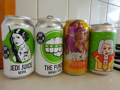 """Hop Nation's """"the Punch"""" & """"jedi Juice"""" + Feral's Warthog & """"matriarch""""beer Cans"""