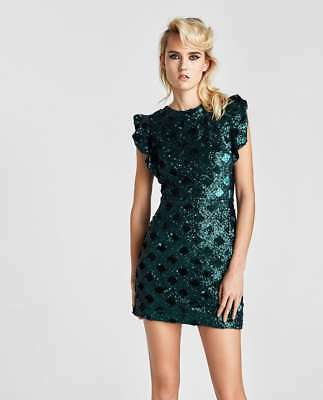 56a62134 FRENCH CONNECTION EDITH Sequin And Embroidery Dress. Size 10 ...